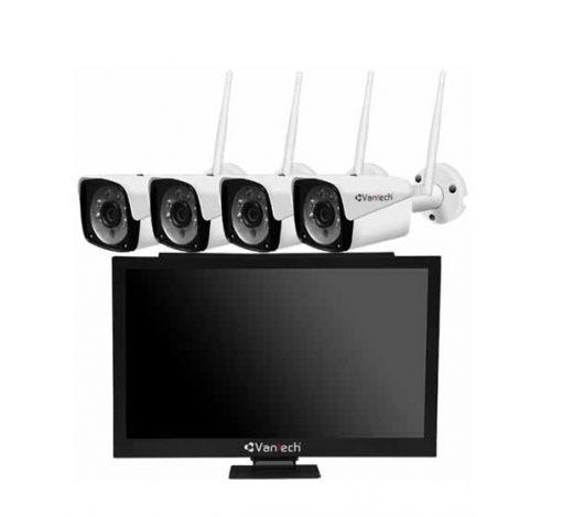 Bộ Kit camera IP Wifi VANTECH AI-K4020