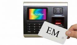 Máy chấm công kiểm soát cửa, vân tay, thẻ và kết nối Wireless SUPREMA Biostation BSRW-OC