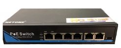 4-Port 10/100Mbps PoE Switch NETONE NO-AF-41 (65Watt)