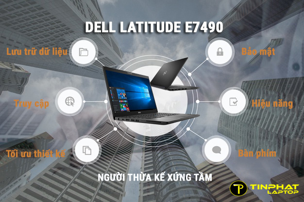Thiết kếDell Latitude E7490 gọntrang nhã