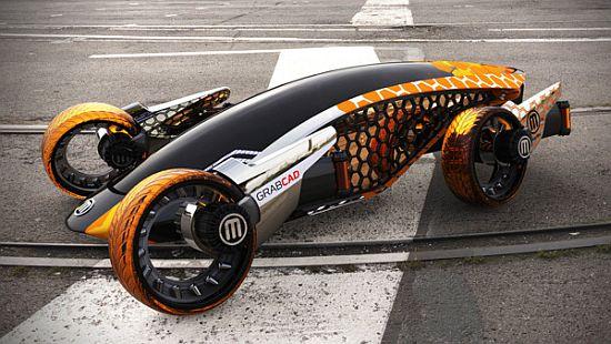 Mẫu concept của một chiếc xe được chế tạo bằng công nghệ in 3D.
