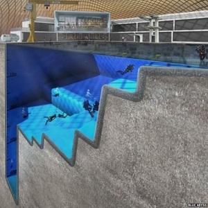 Bể bơi sâu nhất Thế Giới dùng để đào tạo... phi hành gia
