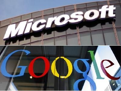 Hai gã khổng lồ Google và Microsoft đình chiến