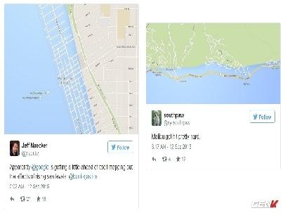 Hình ảnh Google Maps tiết lộ về tác động của quá trình nóng lên toàn cầu