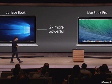 """""""Surface Book mạnh gấp đôi MacBook Pro"""": Microsoft có hơi quá lời?"""