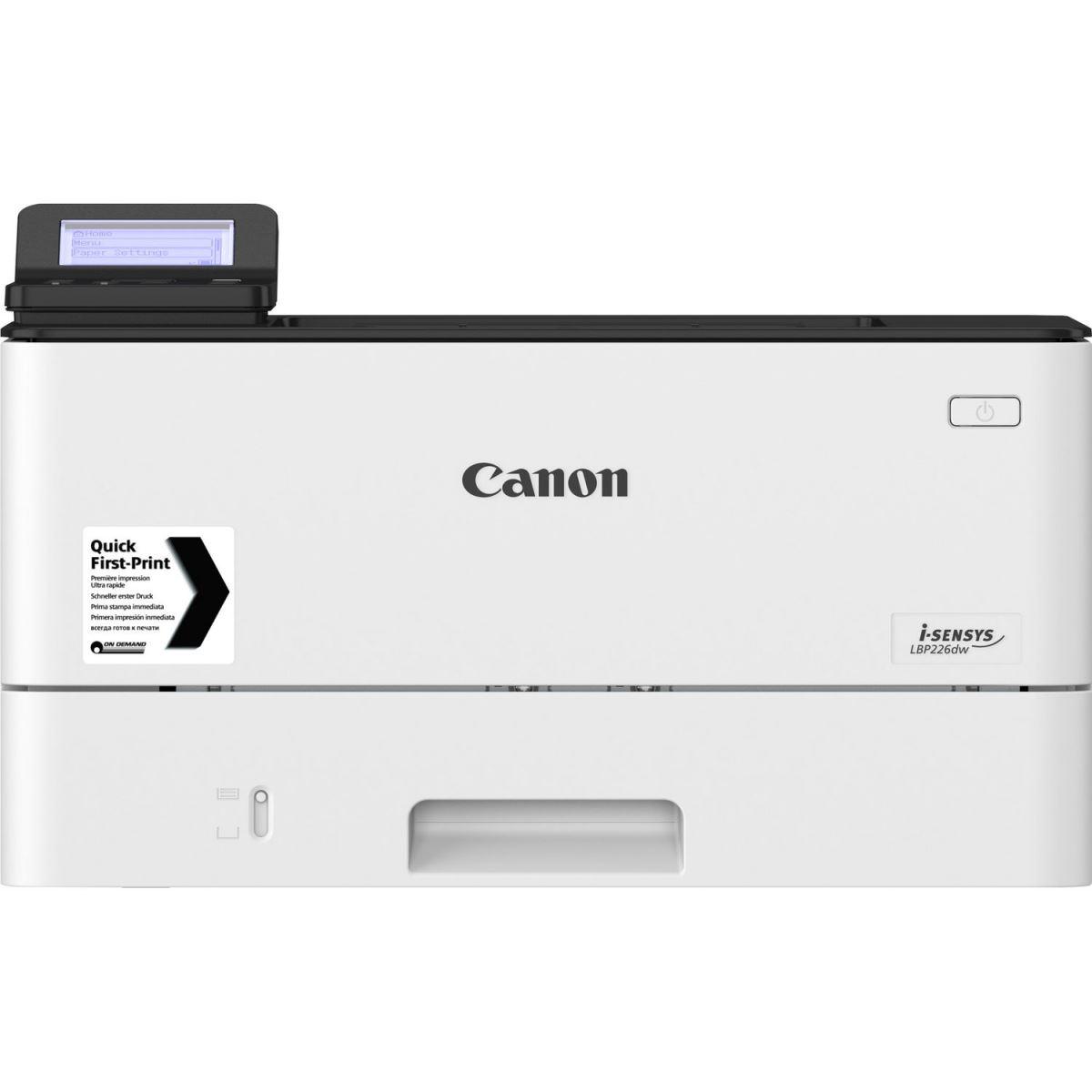 Canon LBP 226dw là máy in văn phòng tốc độ cao và có chức năng in hai mặt tự động.