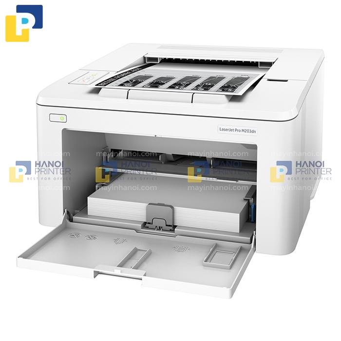 Máy in văn phòng HP 203dn có tốc độ in nhanh chóng, kết nối dễ dàng