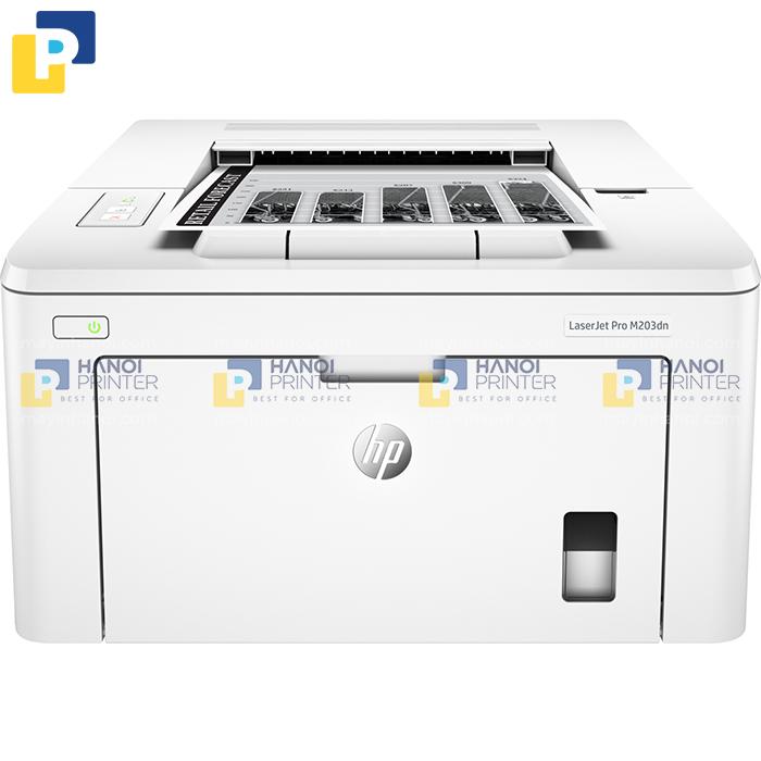Máy in HP 203dn có thiết kể hiện đại, nhỏ gọn và tiện lợi