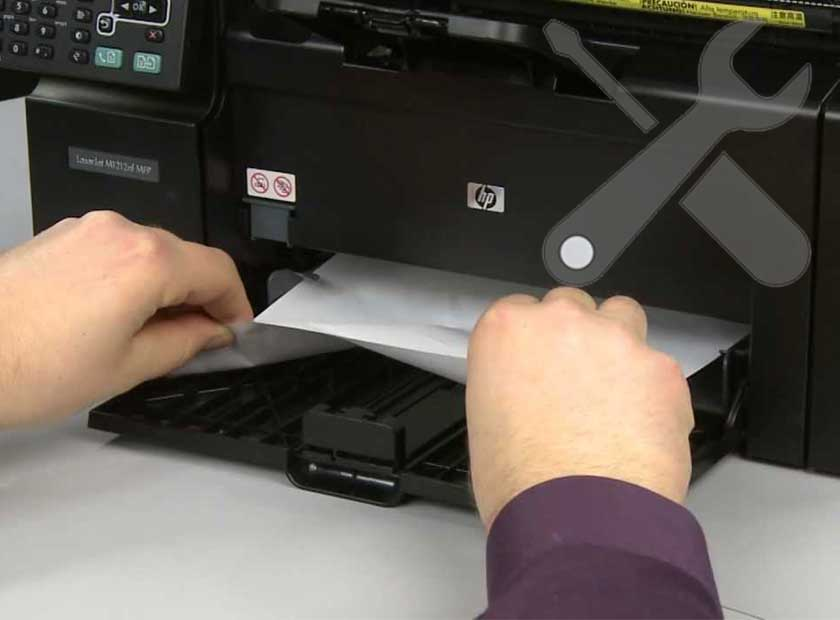 Máy in HP kẹt giấy