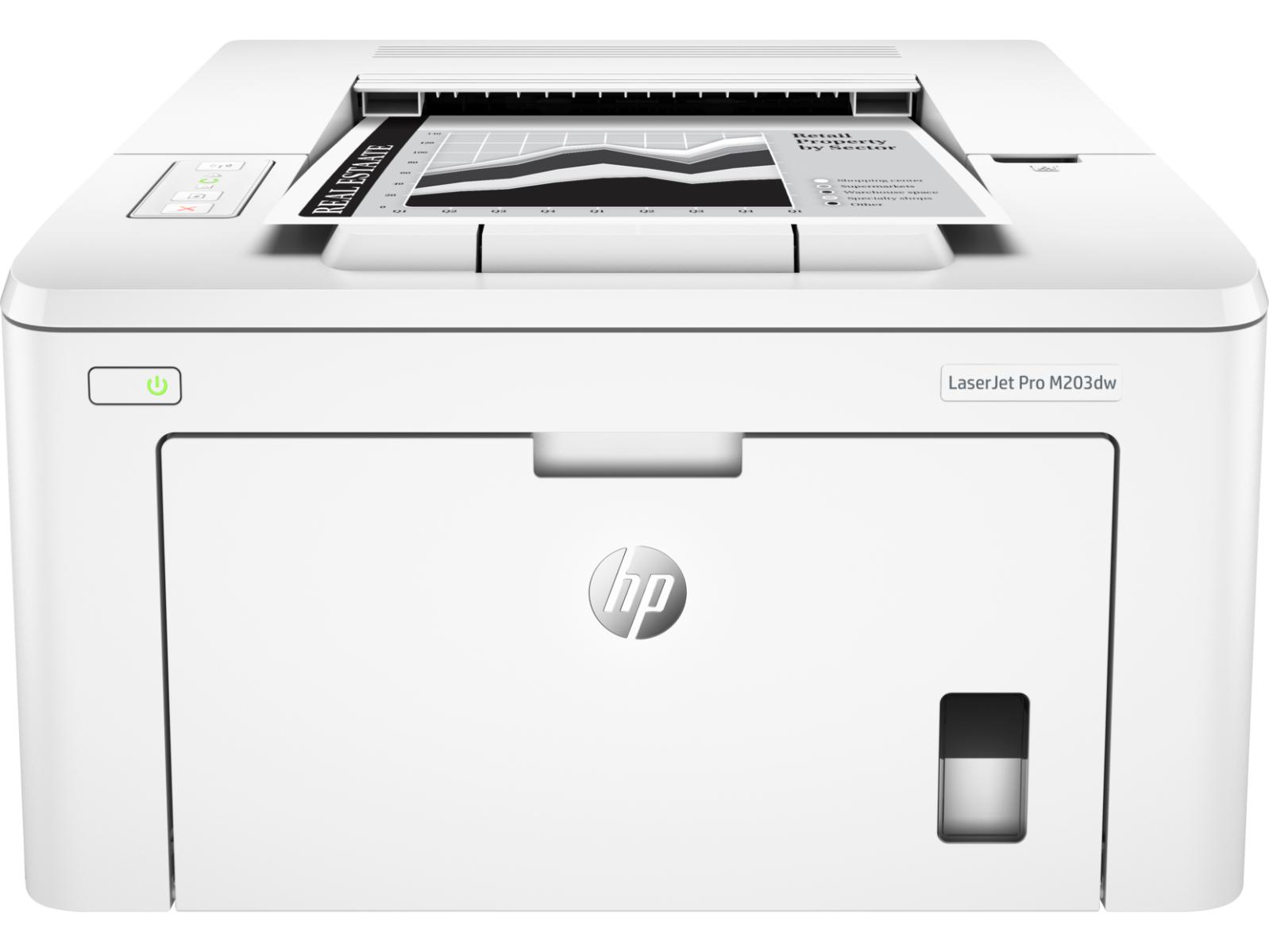 Máy in HP qua mạng 203dw