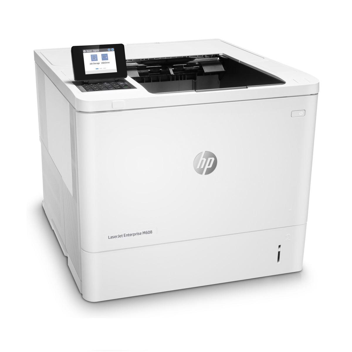 Máy in Hp M608dn là dòng máy in hai mặt tốc độ cao dành cho doanh nghiệp. Với nhiều tính năng vượt trội, dòng sản phẩm này được ưa chuộng và tìm hiểu khá nhiều. Bài viết dưới đây, mayinhanoi.vn sẽ giúp bạn hiểu rõ hơn về những tính năng của máy in cho doanh nghiệp 608dn  I. Đánh giá chung về sản phẩm máy In HP LaserJet Enterprise M608dn Máy in HP M608dn được thiết kế tính năng in 2 mặt với tốc độ rất cao. Sản phẩm có thiết kế khá nhỏ gọn và hiện đại phù hợp với nhiều không gian làm việc. Máy có thể được áp dụng trong những không gian văn phòng cỡ lớn và vừa. Ngoài ra, HP M608dn có tốc độ xử lý nhanh và cho ra chất lượng bản in tốt nên giúp người sử dụng rút ngắn thời gian in ấn của mình. Máy còn có thể giúp người sử dụng tiết kiệm thời gian, điện năng và tăng hiệu quả làm việc. Tính năng bảo mật của máy cũng được đánh giá rất cao.  Máy in hai mặt tốc độ cao chuyên dành cho công việc in ấn của các doanh nghiệp II. Các tính năng của máy in HP Laser M608dn 1. Hệ thống in ấn có tính bảo mật cao Máy in hai mặt tốc độ cao M608dn có sự hỗ trợ của HP Sure Start nên luôn được kiểm tra mã hoạt động thường xuyên. Đặc biệt máy có khả năng tự khôi phục sau khi bị tấn công vào hệ thống bảo mật. Bên cạnh đó, máy còn có khả năng ngăn chặn những cuộc xâm nhập tiềm ẩn. Một khi có phát hiện bất kì lỗ hổng bảo mật nào máy sẽ báo sự cố bảo mật ngay lập tức để hạn chế rủi ro. 2. Mang đến hiệu quả và tiết kiệm năng lượng  Máy in cho doanh nghiệp M608dn có khả năng hoàn thành nhanh các tác vụ được giao phó. Đồng thời Hp M608dn có chức năng kiểm soát chất lượng giấy khi in. Do đó tránh được tình trạng hao giấy do lỗi in ấn. Máy còn có thể in đảo mặt với tốc độ nhanh gần bằng so với in 1 mặt. HP M608dn có tốc độ khởi động nhanh và khả năng in ra trang đầu tiên chỉ sau 7.8s.  Máy in có giao diện thân thiện và dễ sử dụng HP Laser M608dn có khả năng hoàn thành nhanh các tác vụ, giúp in tài liệu hai mặt nhanh chóng và tiết kiệm giấy với tốc độ in đen trắng lên đến 61 trang/ phút.  3. Chất lượng 