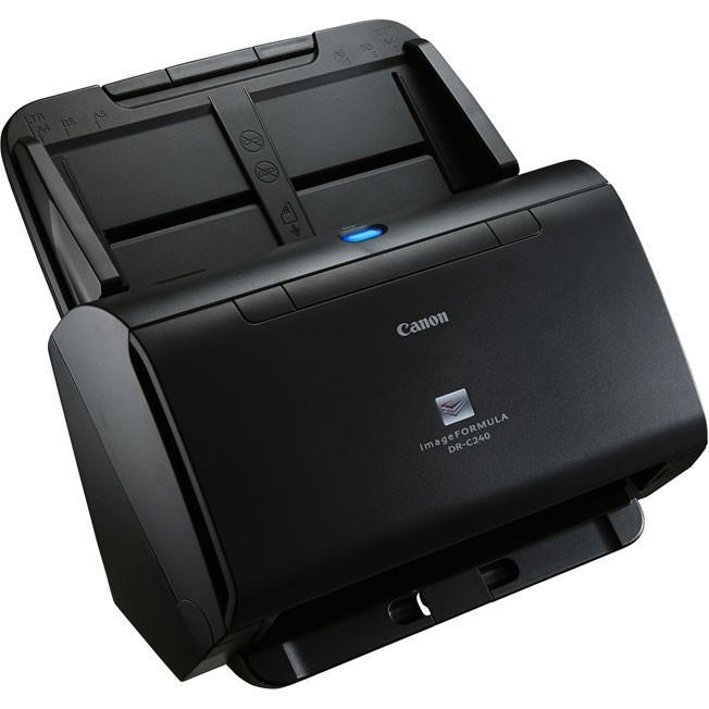 Máy scan Canon Dr - C240 có cơ chế nạp giấy nâng cấp, linh hoạt