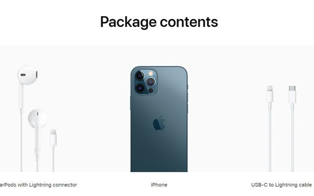 iPhone 12 đi kèm bộ sạc
