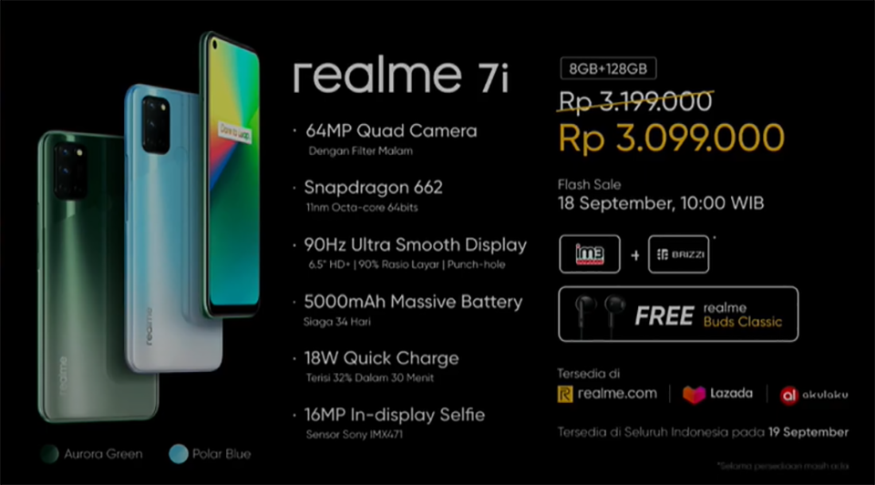 Sforum - Trang thông tin công nghệ mới nhất Realme-7i-ra-mat-1 Realme 7i chính thức ra mắt: Pin 5,000 mAh, màn hình 90Hz, chip SD662, giá chỉ 4.8 triệu đồng