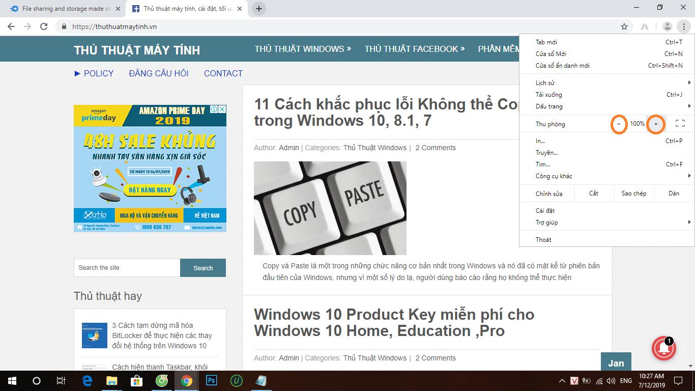 Tăng kích cỡ chữ trong bất kỳ trình duyệt web nào