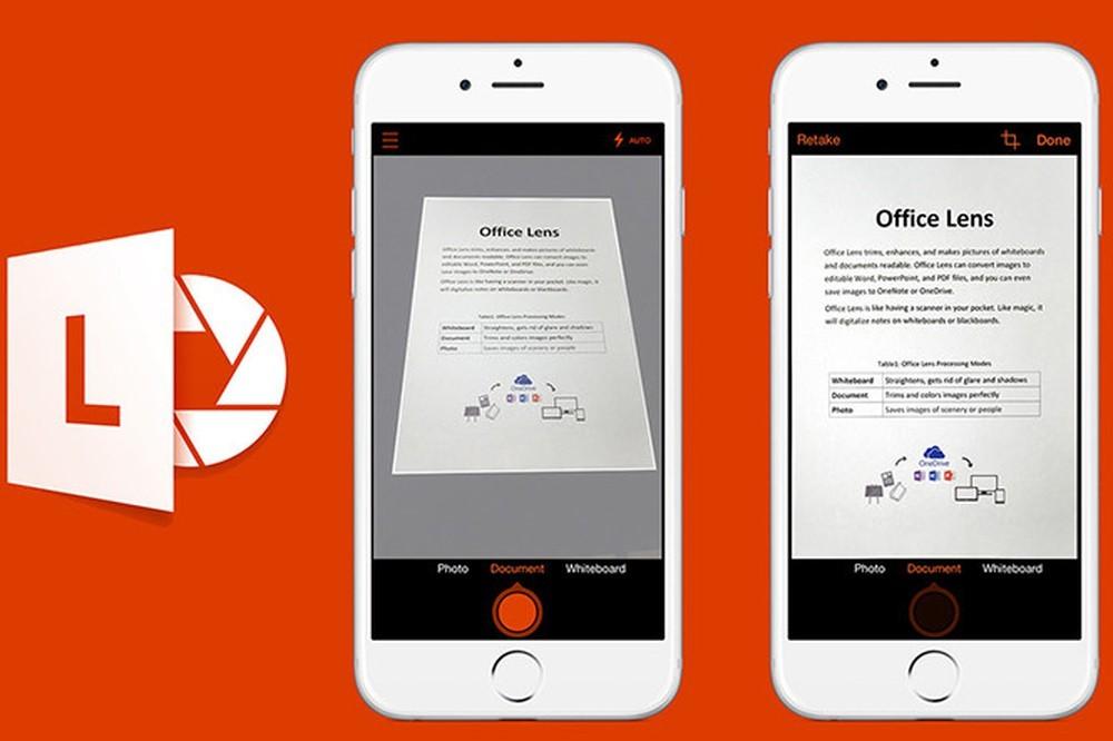 Phần mềm scan trên điện thoại Iphone Office Lens