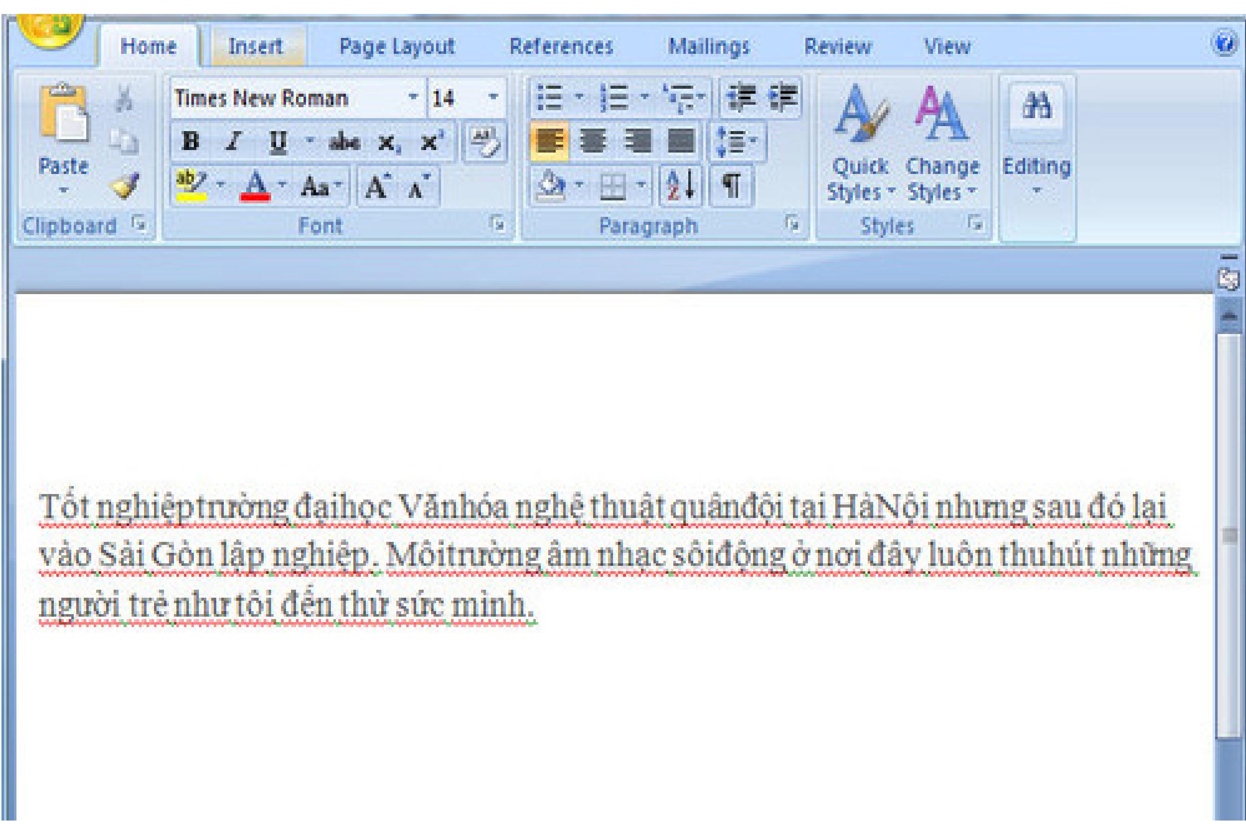 Mẹo sửa lỗi dính chữ trong văn bản đơn giản