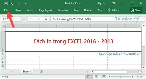 Cách in file excel chuẩn trên excel 2016, 2013