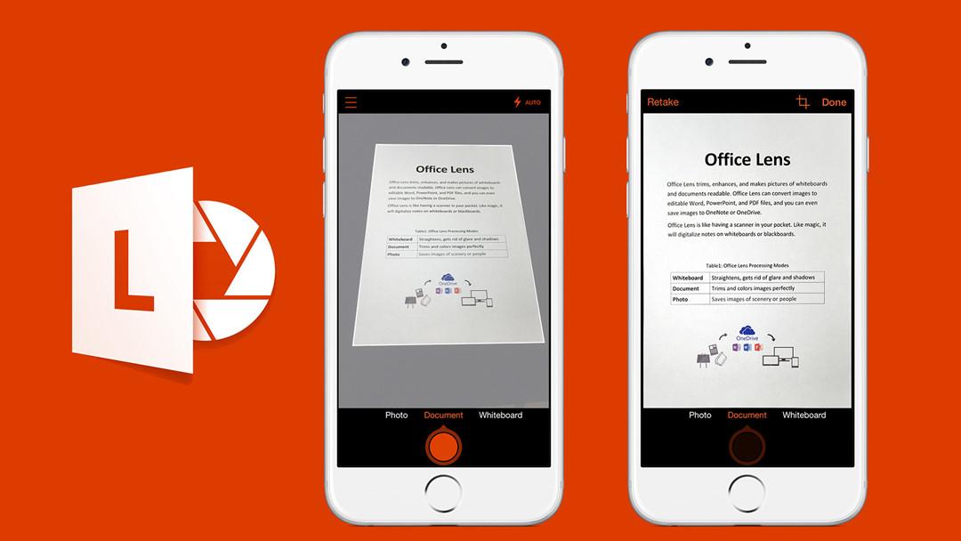 App scan tài liệu Office Lens