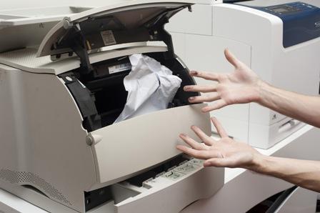 Lỗi máy giấy bị kẹt hoặc cuộn hoặc scan nhiều lần cùng một lúc
