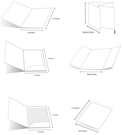 8 kiểu dáng thường dùng trong in Brochure