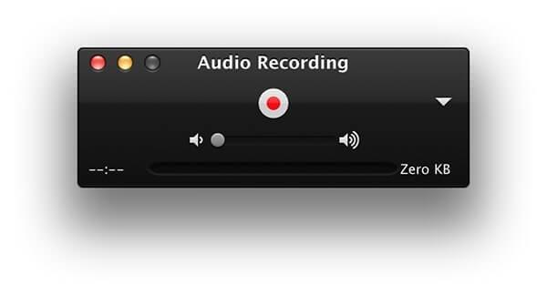 Nhấn vòng tròn đỏ để bắt đầu ghi âm