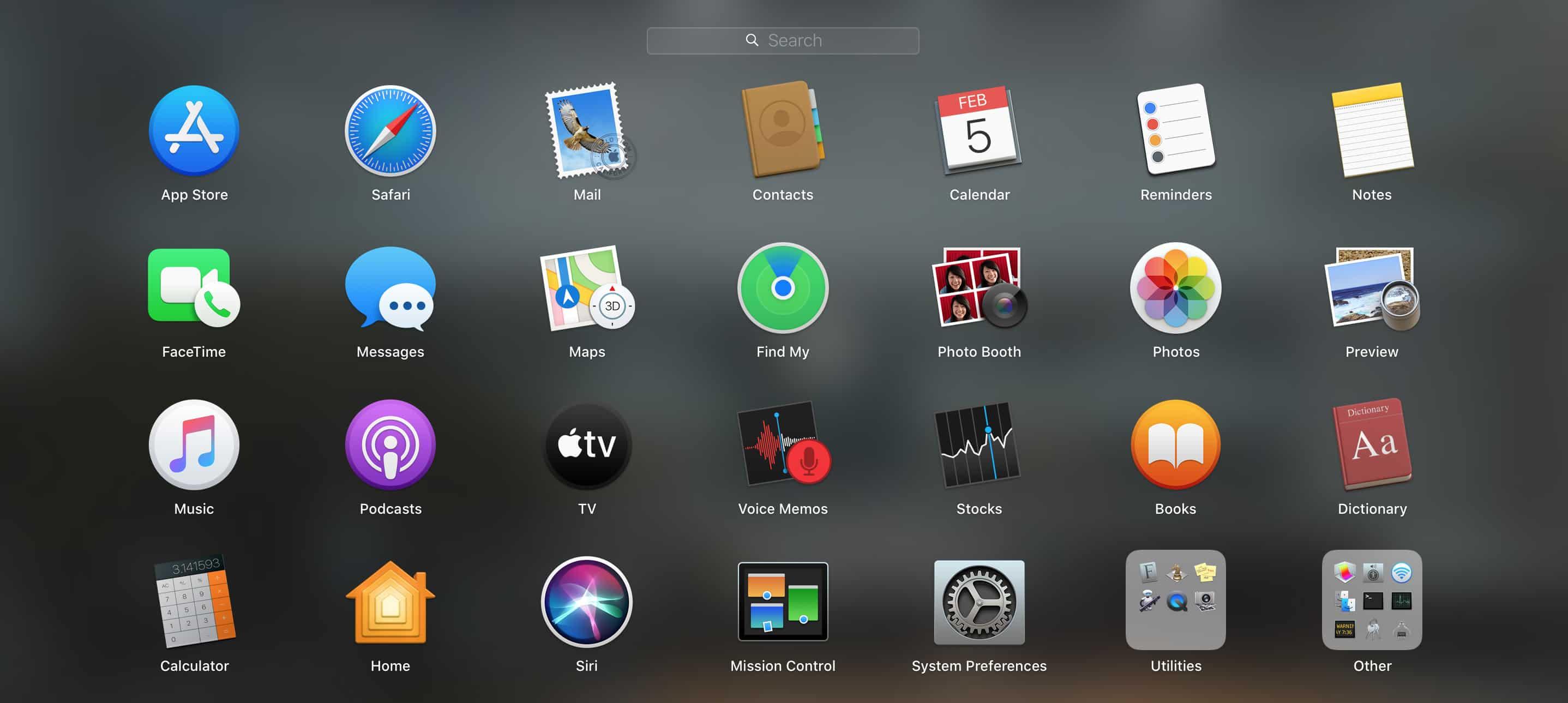 Các ứng dụng tích hợp - MacOS