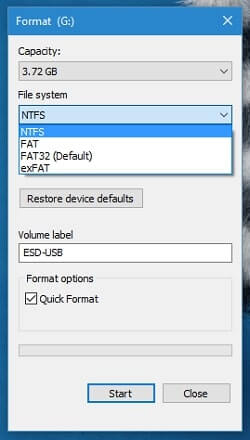 format usb mac