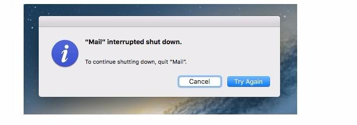 shutdown macbook