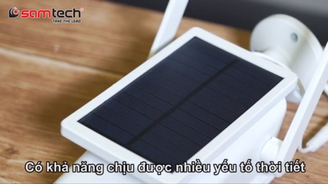 Camera năng lượng mặt trời có chịu được nước không
