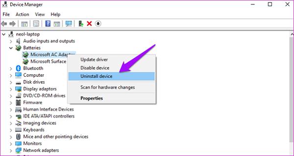 Cập nhật driver cho laptop để sửa lỗi laptop không nhận pin