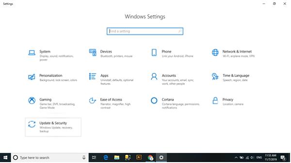 Cập nhật lại hệ điều hành laptop để sửa lỗi laptop không nhận pin