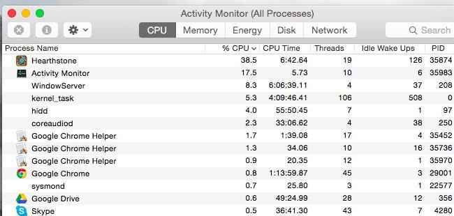 Dùng Activity Monitor theo dõi ứng dụng làm chậm máy