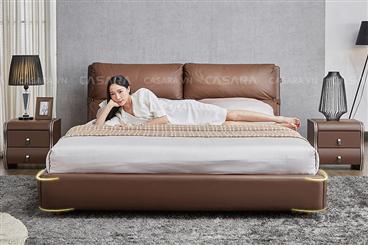 Giường ngủ phong cách hiện đại màu nâu N327