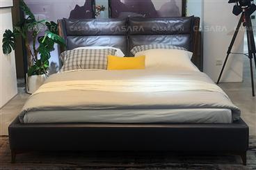 Giường ngủ sang trọng màu đen N157