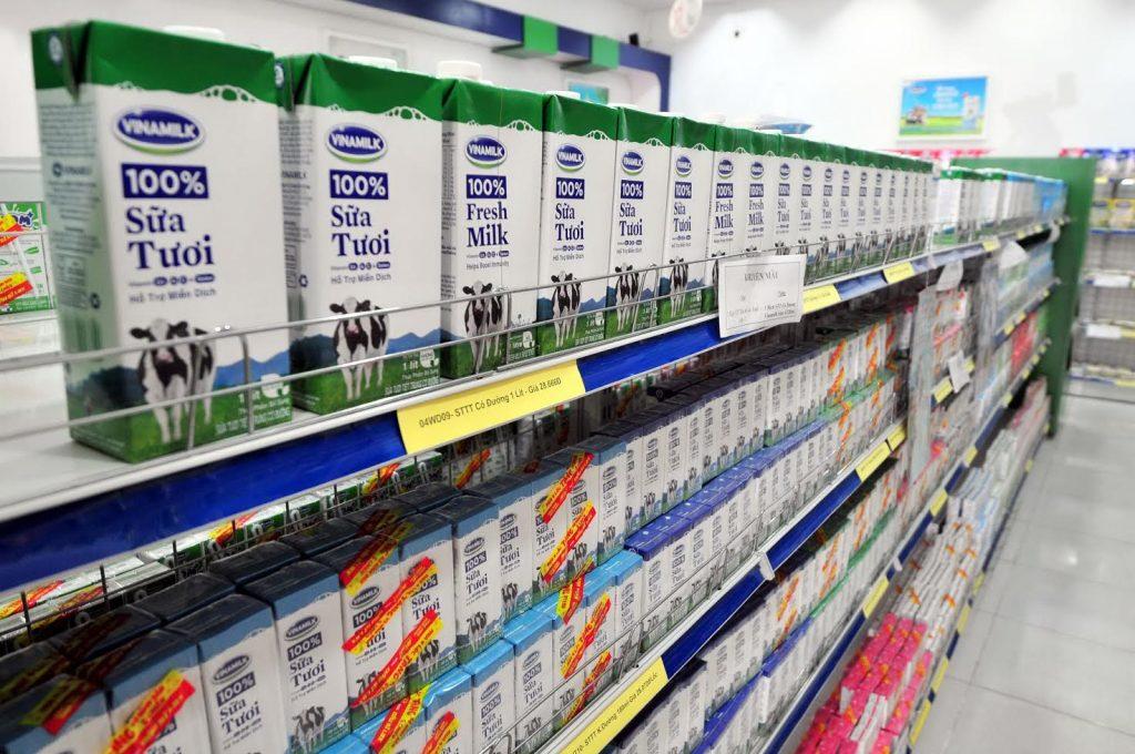 Hộp sữa bằng giấy đa dạng trên thị trường