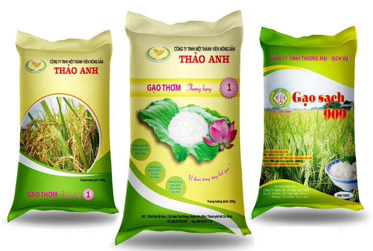 Bao bì đựng gạo được áp dụng công nghệ in ống đồng