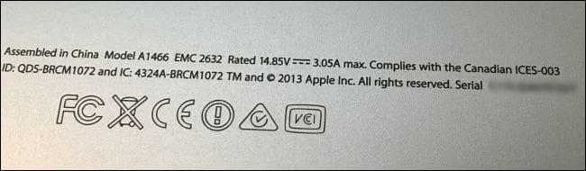 Lấy số seri trên vỏ máy MacBook