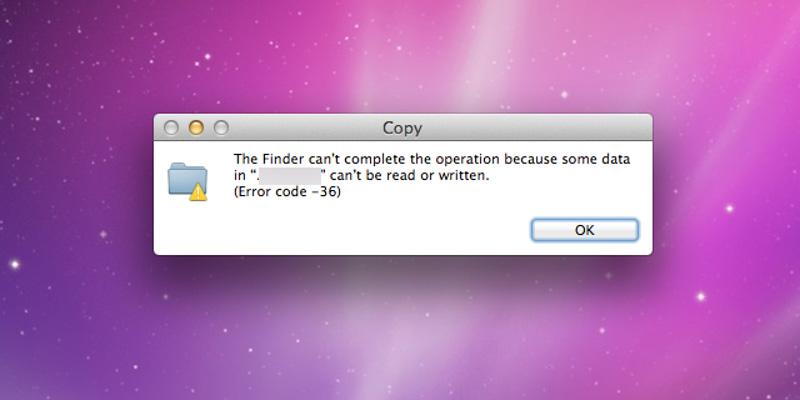 Lỗi file không đọc hoặc ghi được trên Macbook do ổ cứng