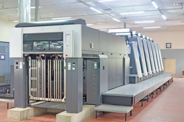 Đây là máy in UV offset 6 màu Heidelberg XL 75+ tráng phủ được In7 đưa vào vận hành năm 2016
