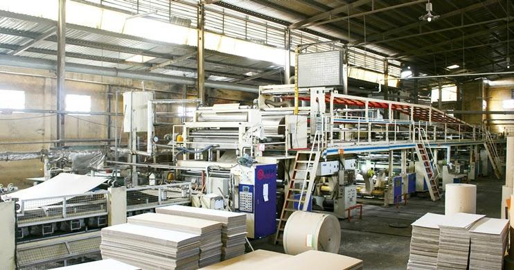 Một góc xưởng in bao bì giấy