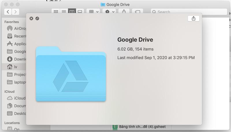 Xem nhanh thông tin File, Thư Mục