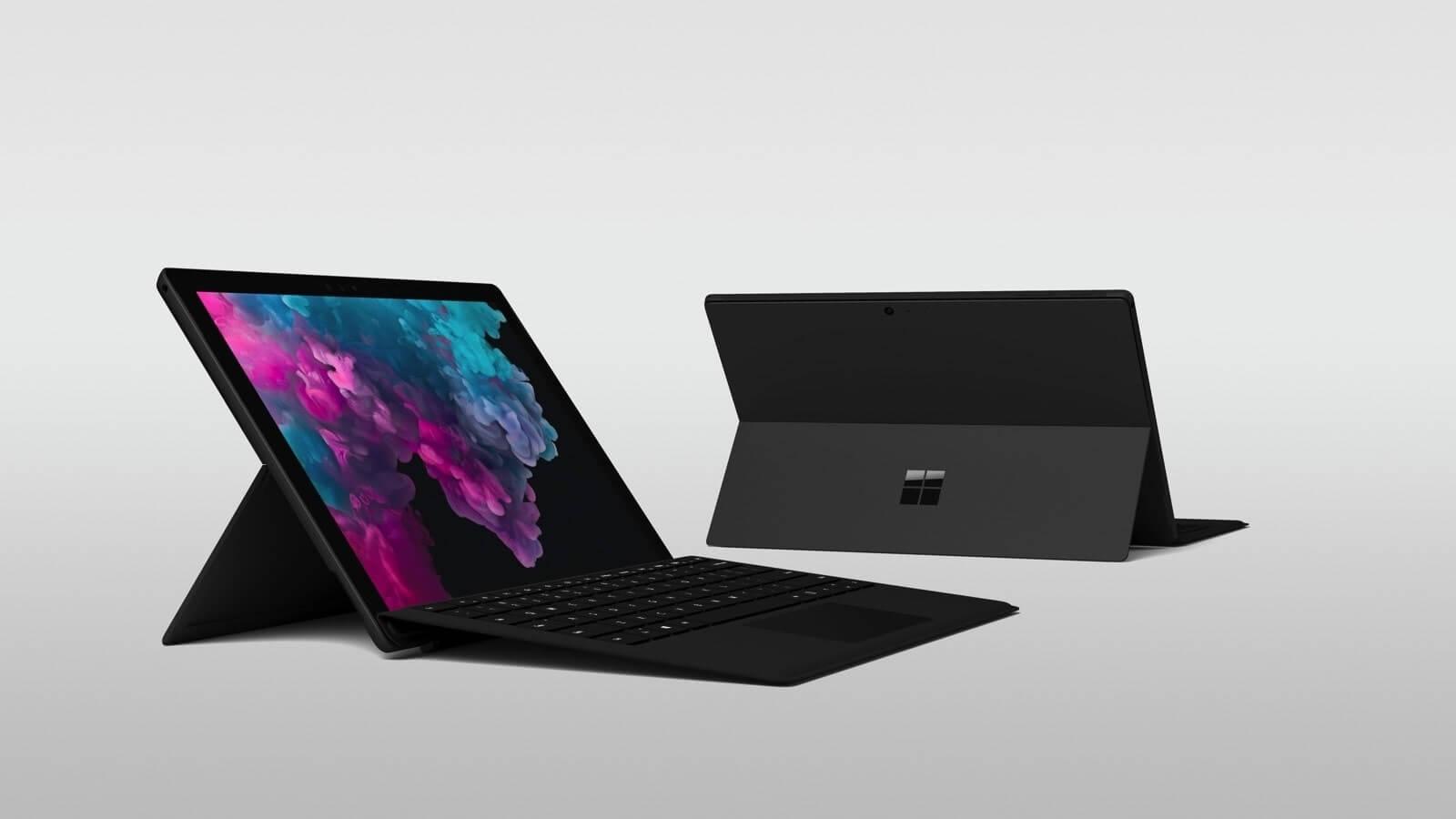 Surface Pro 6 đã có thêm phiên bản màu đen sang trọng