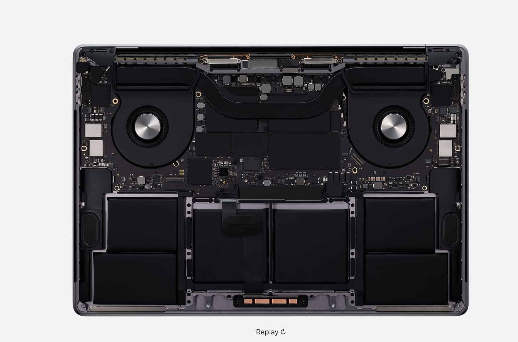laptopvang MacBook Pro 16 inch 2019 Air Flow