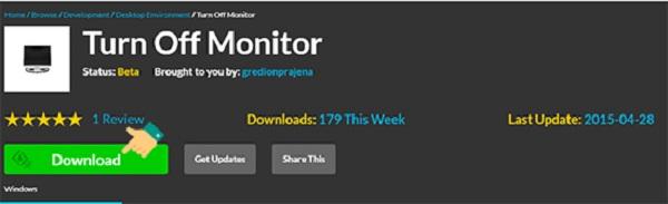 Phần mềm Turn Off Monitor