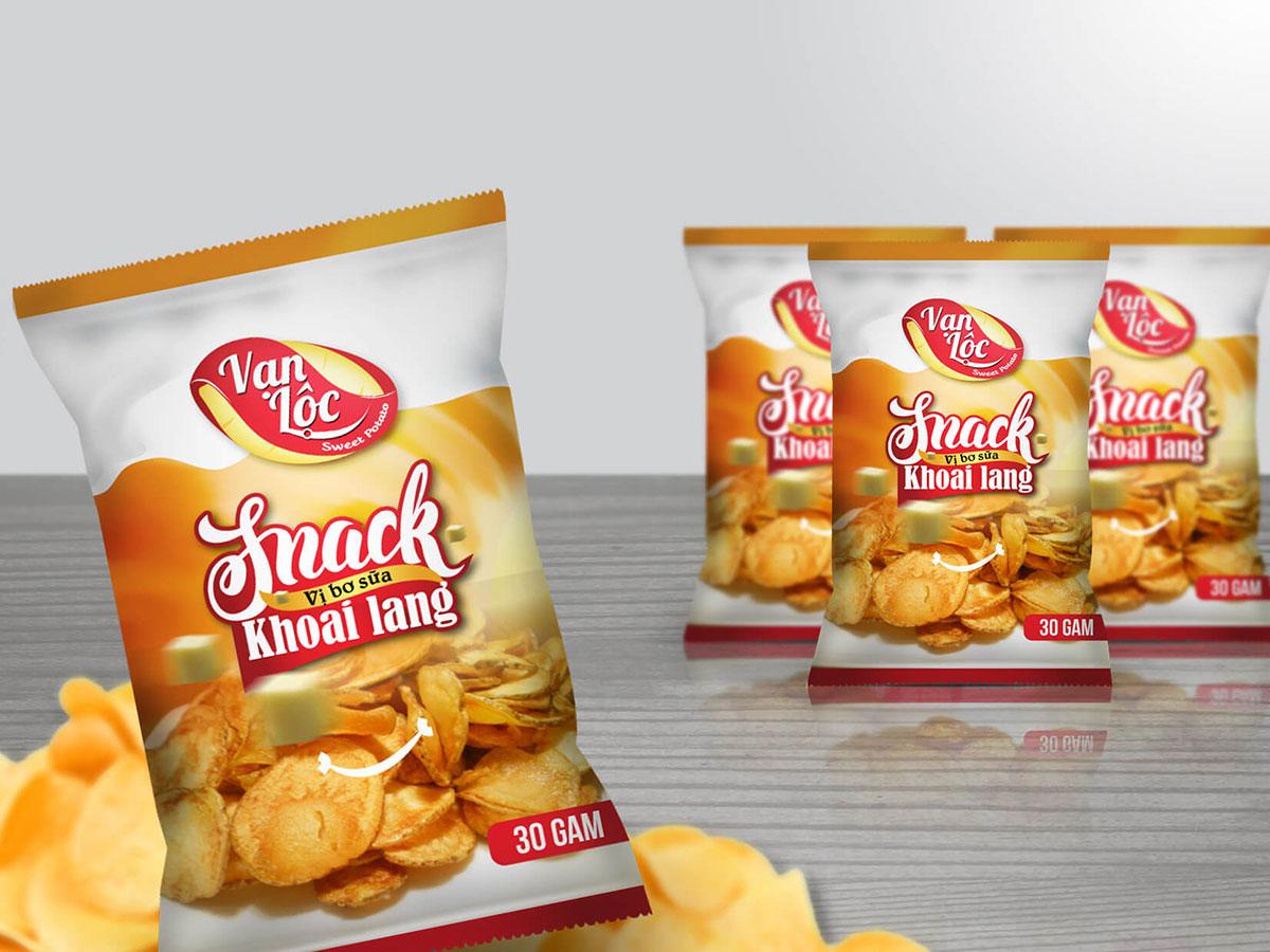 Việc in ấn, thiết kế bao bì snack ấn tượng giúp thu hút người tiêu dùng