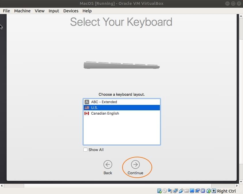 virtual box mac os