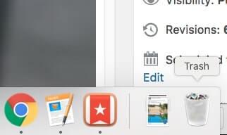 cách xóa file trên mac